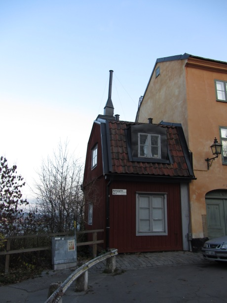 The tiny red house in Stockholm