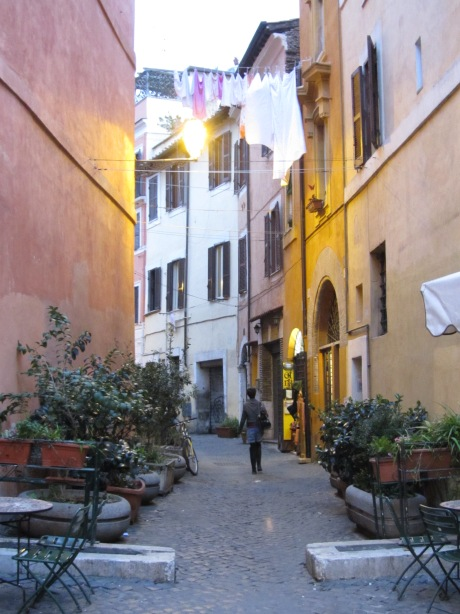 Just another pretty street in Trastevere, Rome